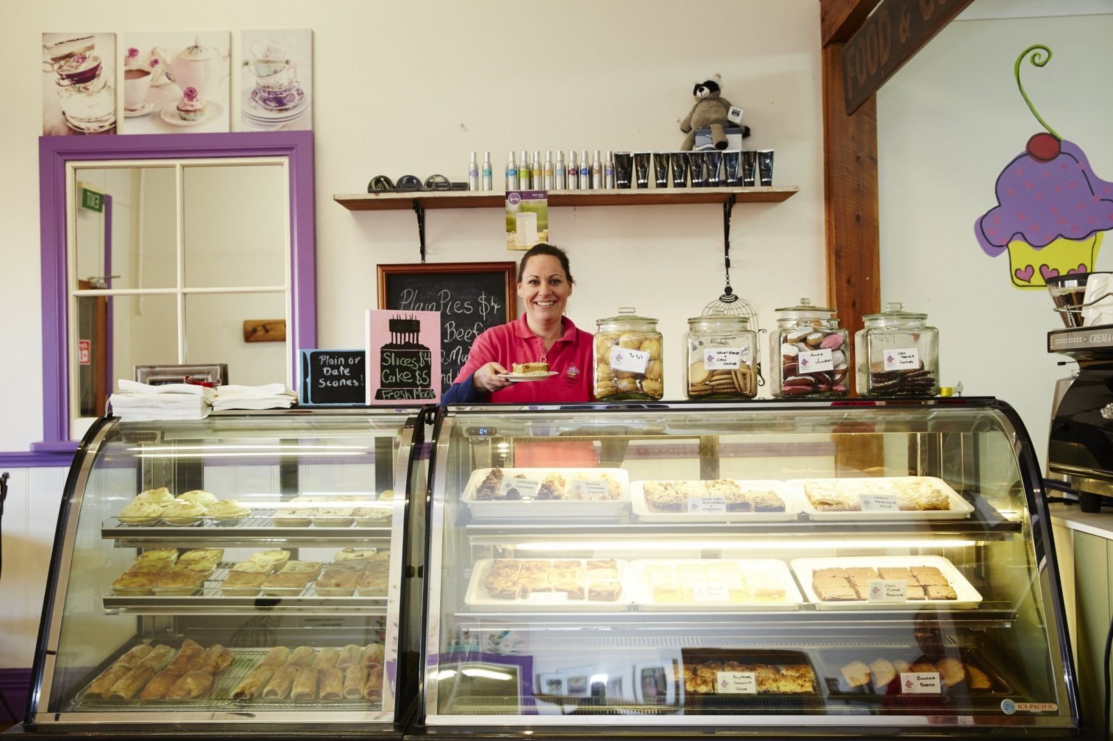 Gluten-free baked goods in the cafe/bakery