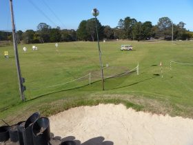 Sand bunker and driving range