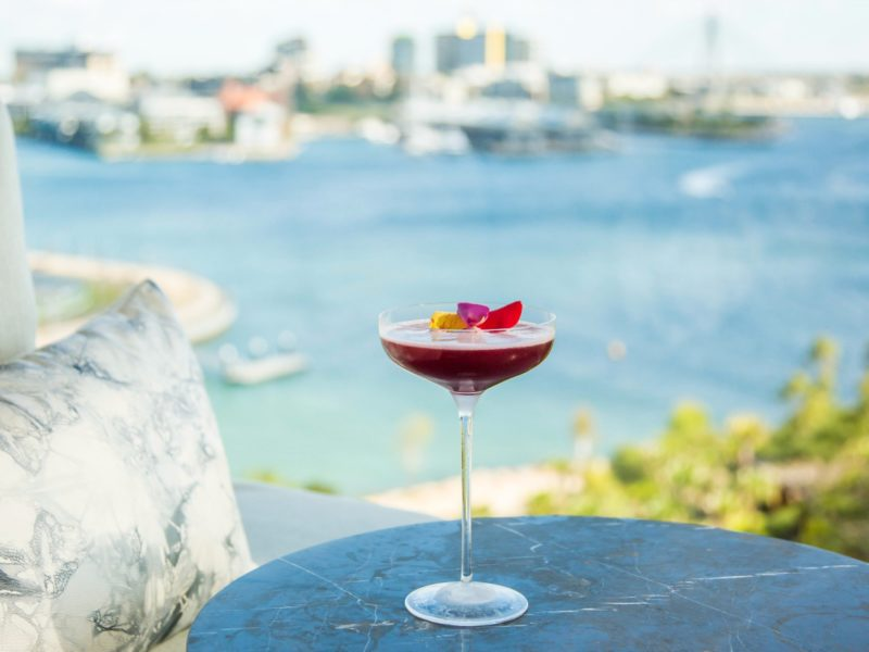 Cocktail at Henry Deane with harbour views