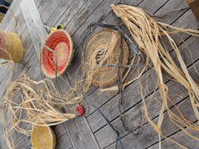 Weaving, basketry, artistic