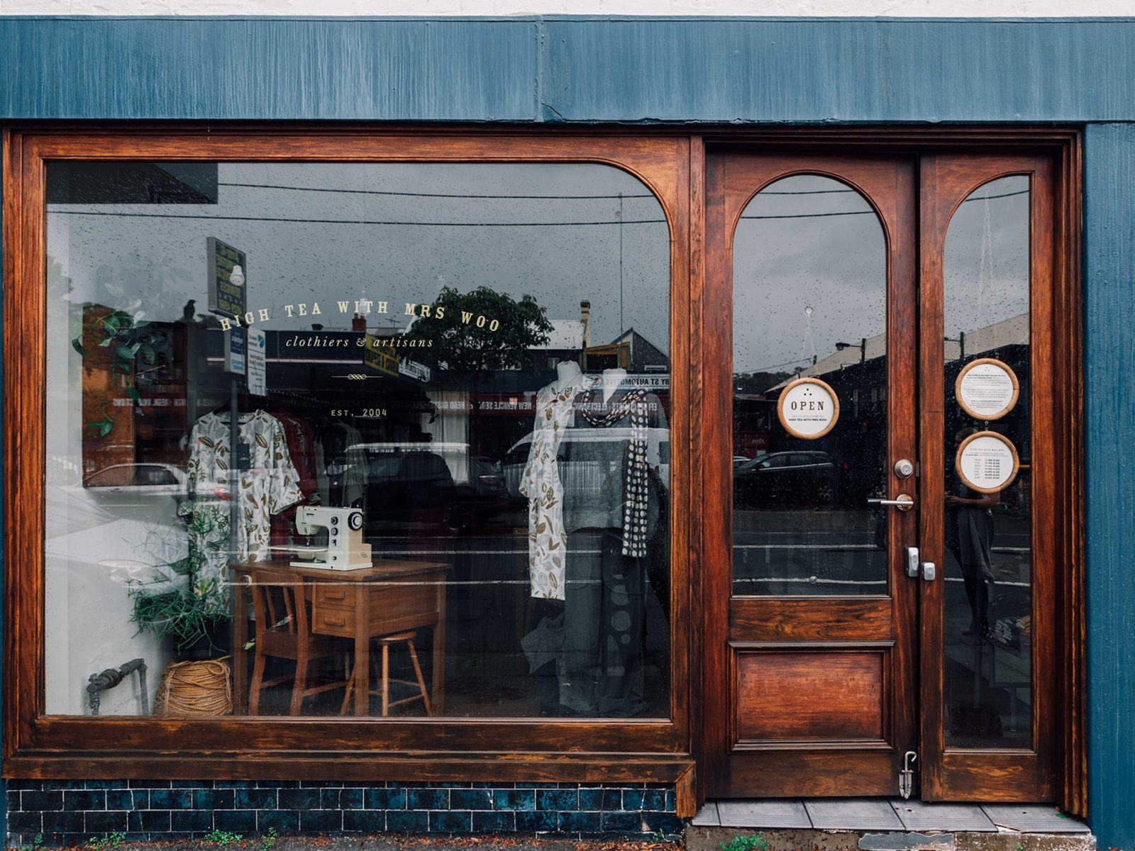 High Tea with Mrs Woo - shopfront window