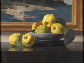 Nora Heysen's exquisite Still Iife painting is always a favourite in the Howard Hinton Collection