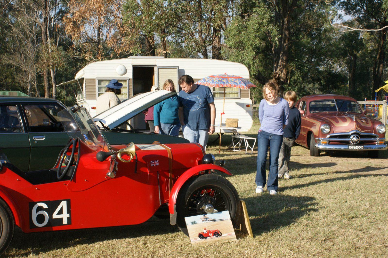 Austin 7 and 70's Caravan