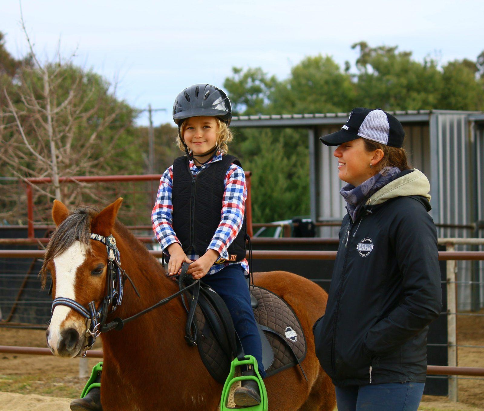 Horse riding at Belisi