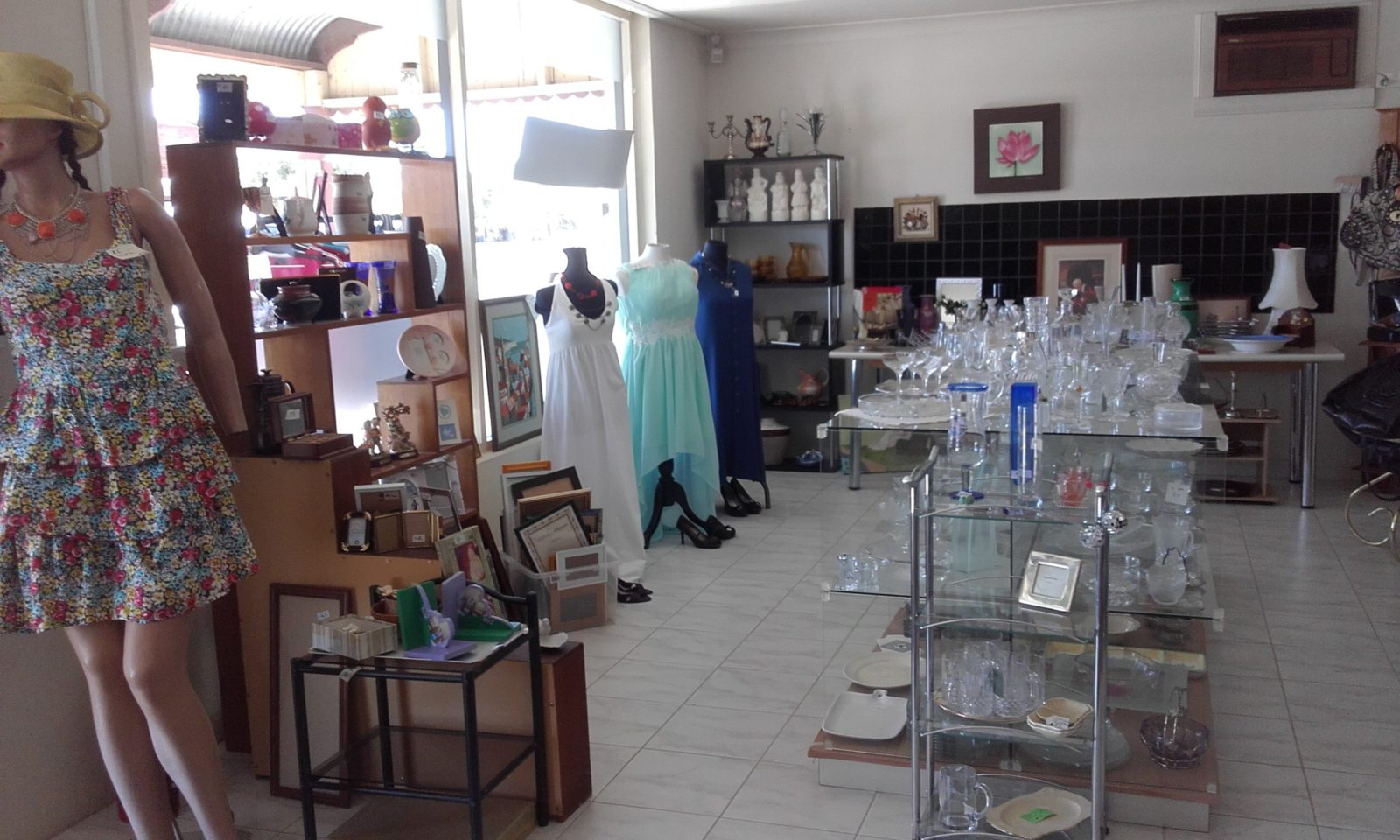 Front of shop display
