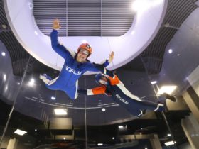 iFLY High - fly towards the top of the tunnel for the ultimate adrenaline rush