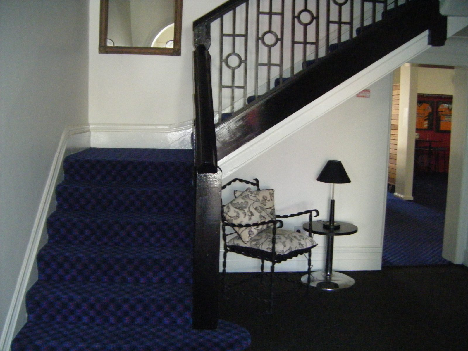 Hotel entry staircase