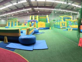 Colourful inflatable playground in Narellan