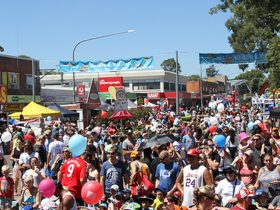 Crowds of People at the Ingleburn Alive street festival