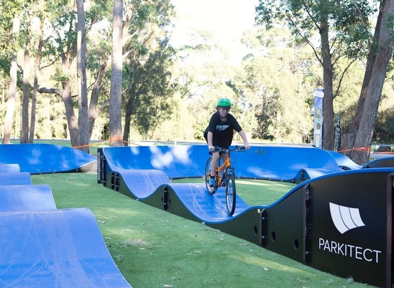 Pumptrack for bikes, scooters, skates and skateboards