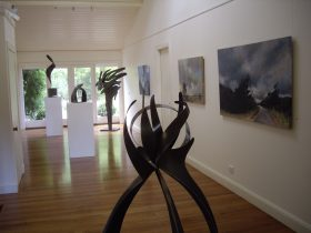 Rick Andersen's paintings with Jen Mallinson's sculpture