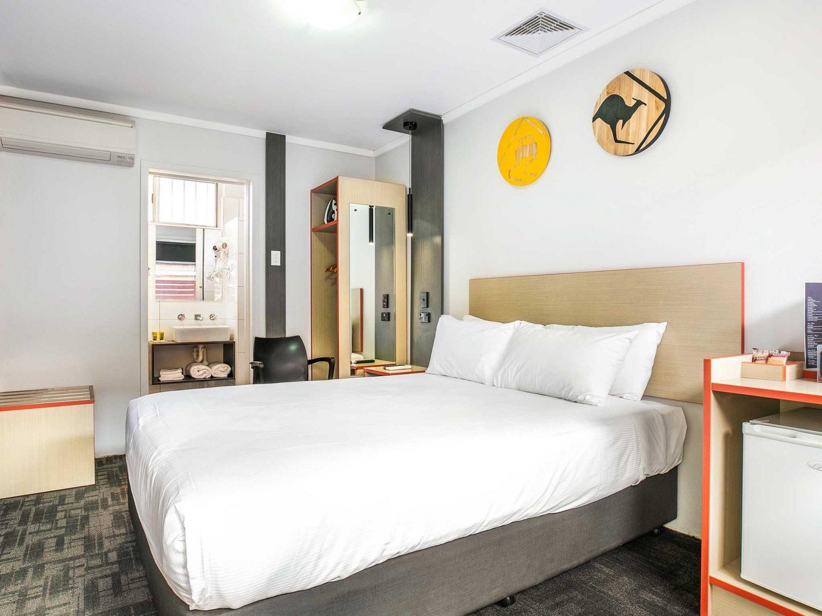 bed in Motel room