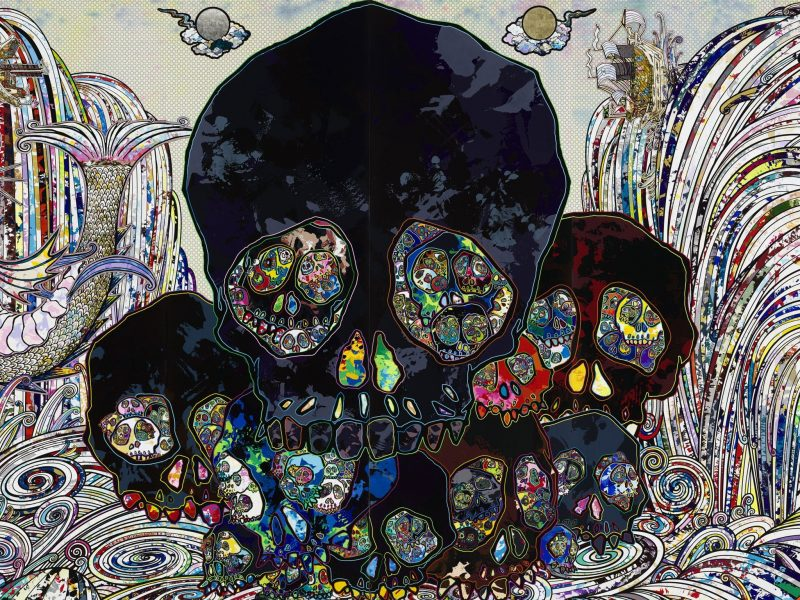 Takashi Murakami 'In the Land of the Dead, Stepping on the Tail of a Rainbow' 2014 (detail)
