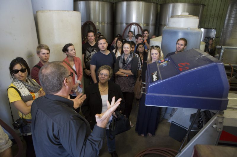 Hearing about wine production from Vintner Rob Howell