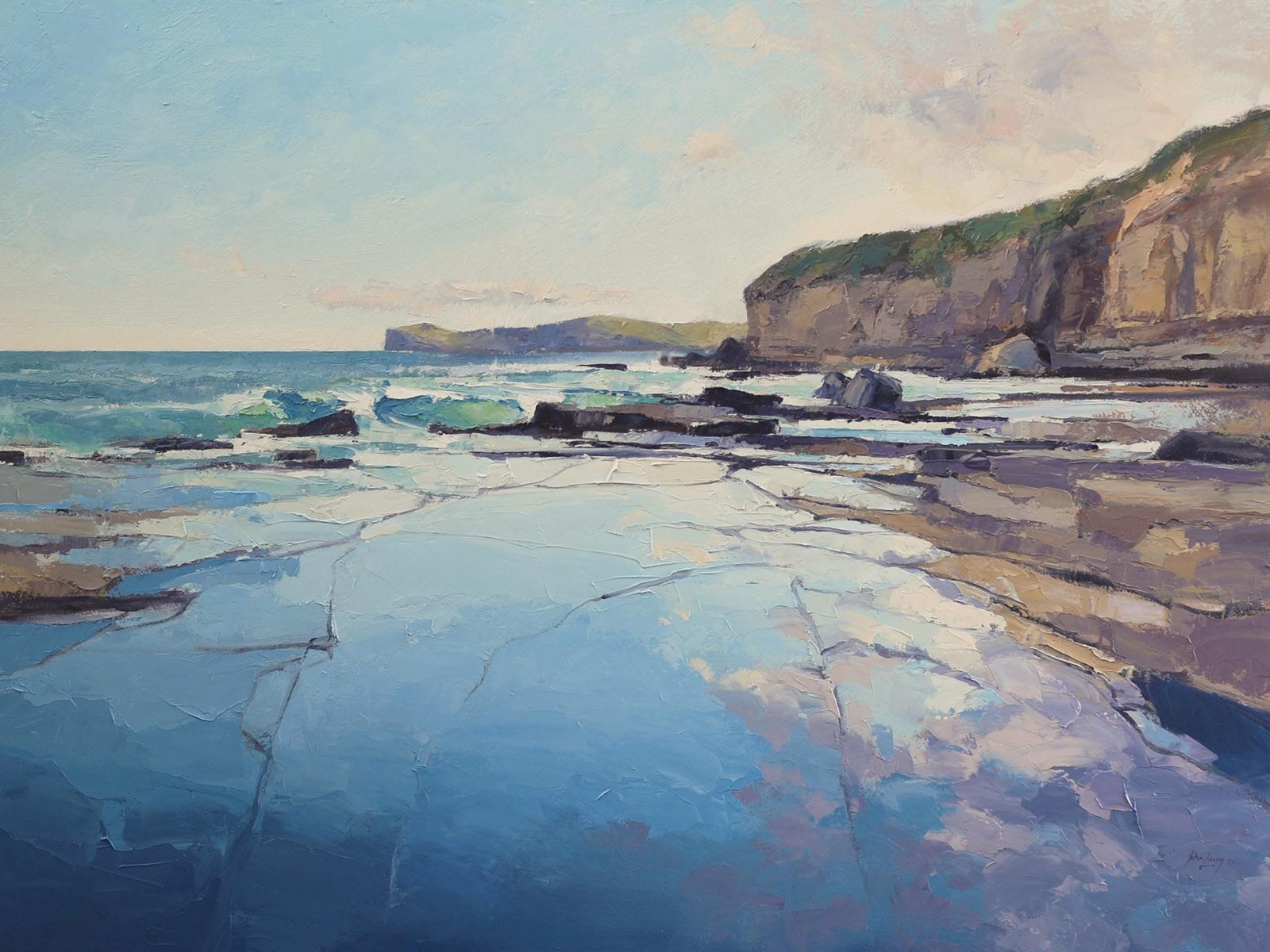 John Lacey Painting: Terrigal Evening