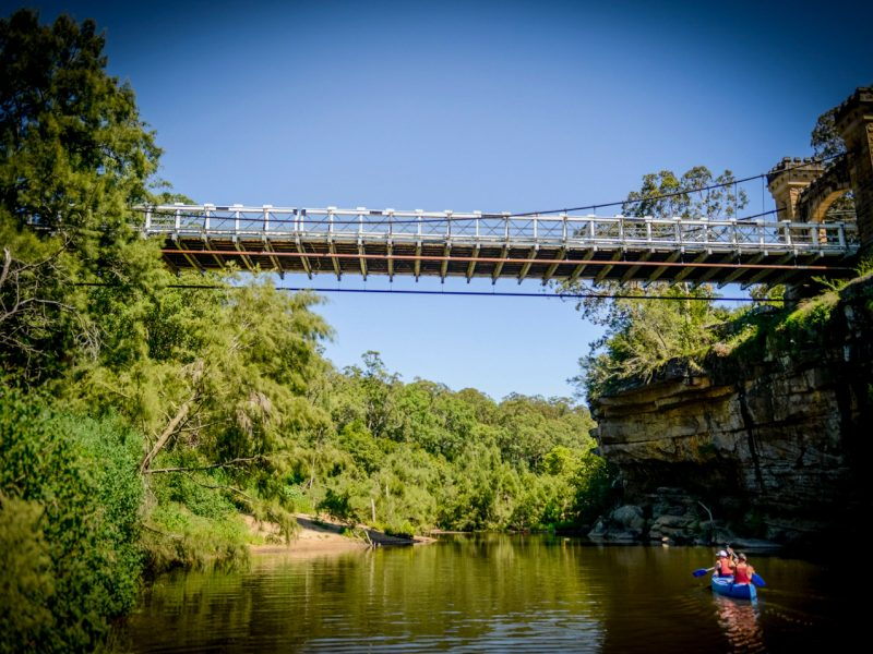 Kangaroo River, paddle, Hampden Bridge