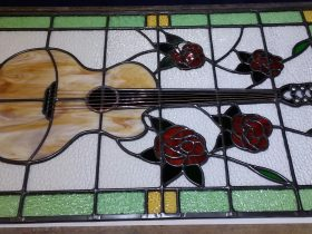 Commission leadlight & copperfoiled glass panel
