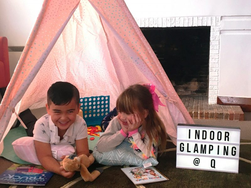 Kids Glamping Q Station Tent Accomodation