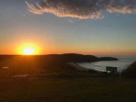Sunrise over Killalea