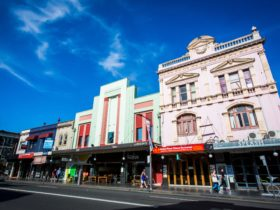 Shopfronts along King Street, Newtown