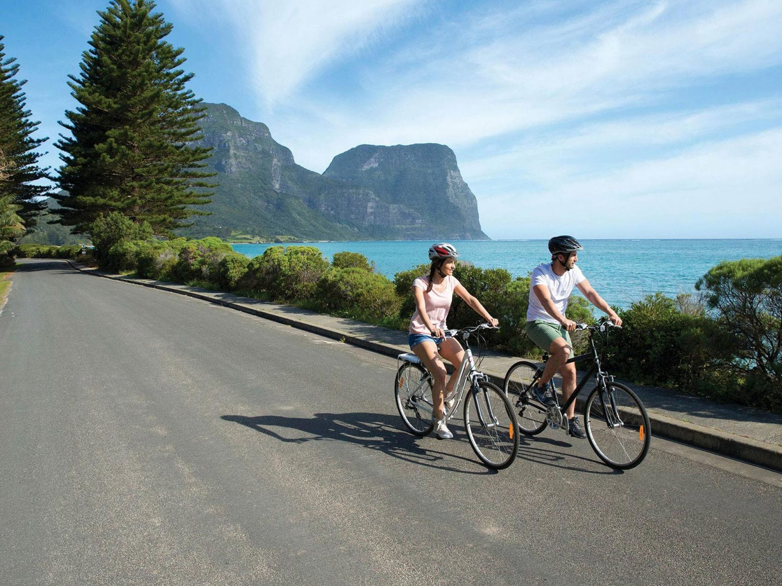 Cycling on Lord Howe Island