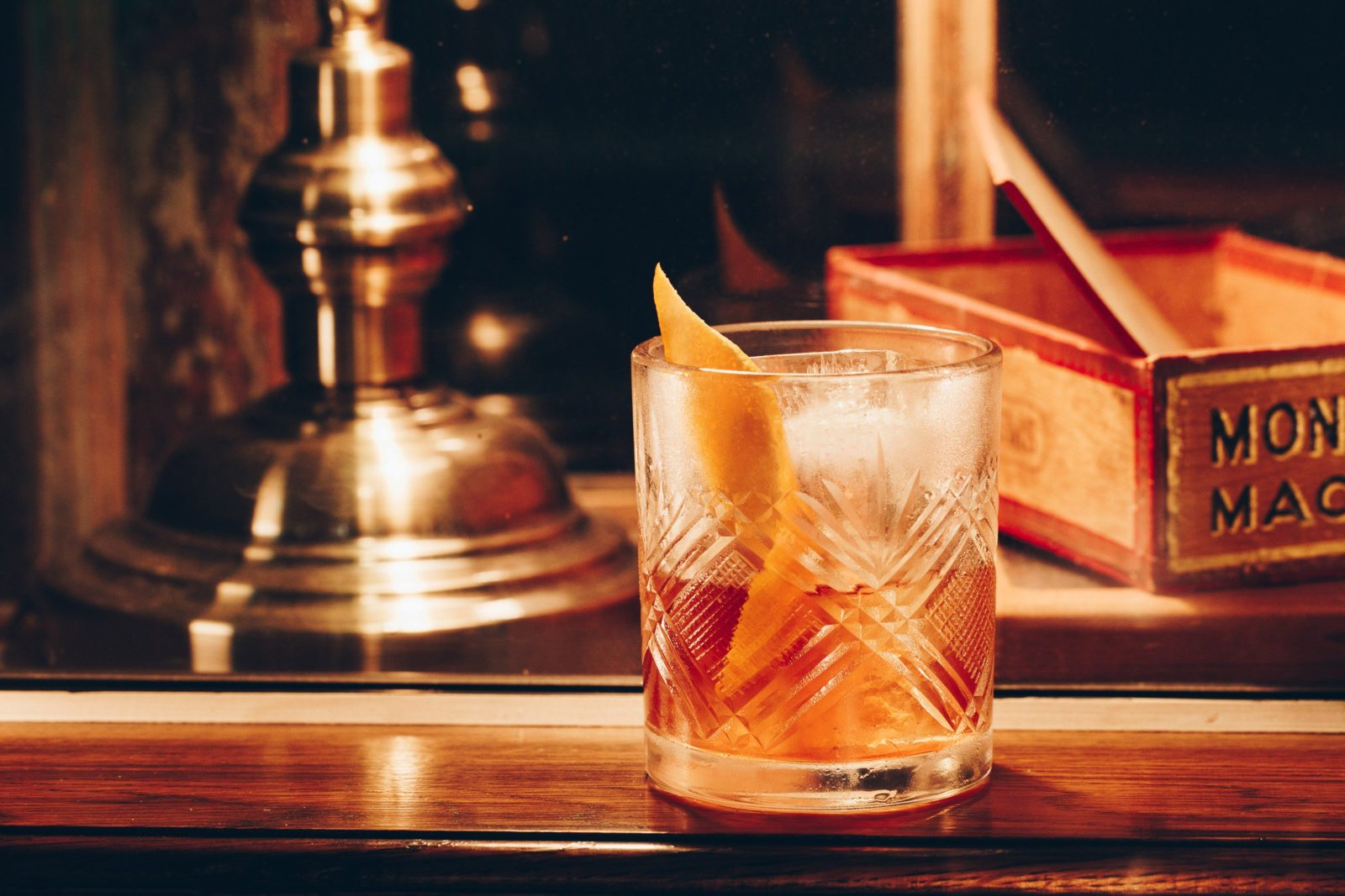 Rum and Rye Old Fashioned - Kittyhawk's signature cocktail