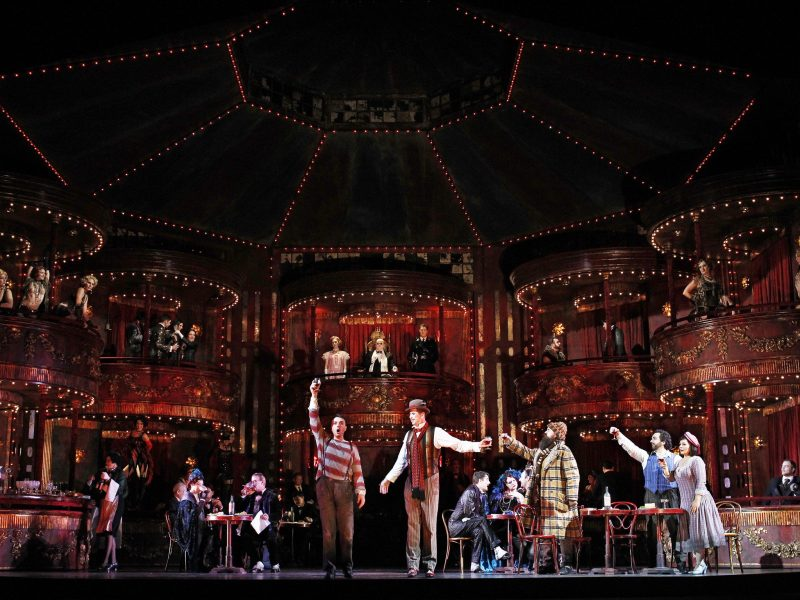 Production image of La Boheme at the Sydney Opera House