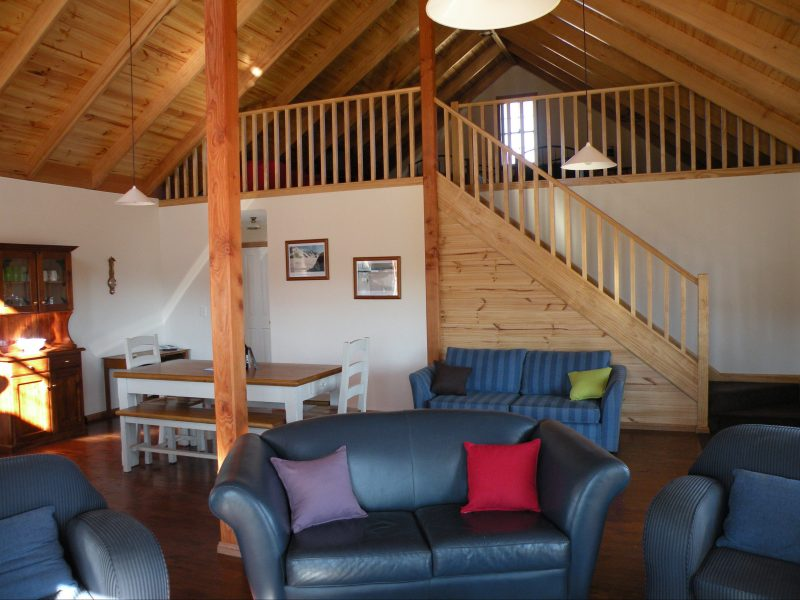 Living space at Lachney Cottage