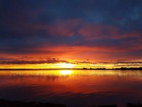 Sunset on Lake Mulwala