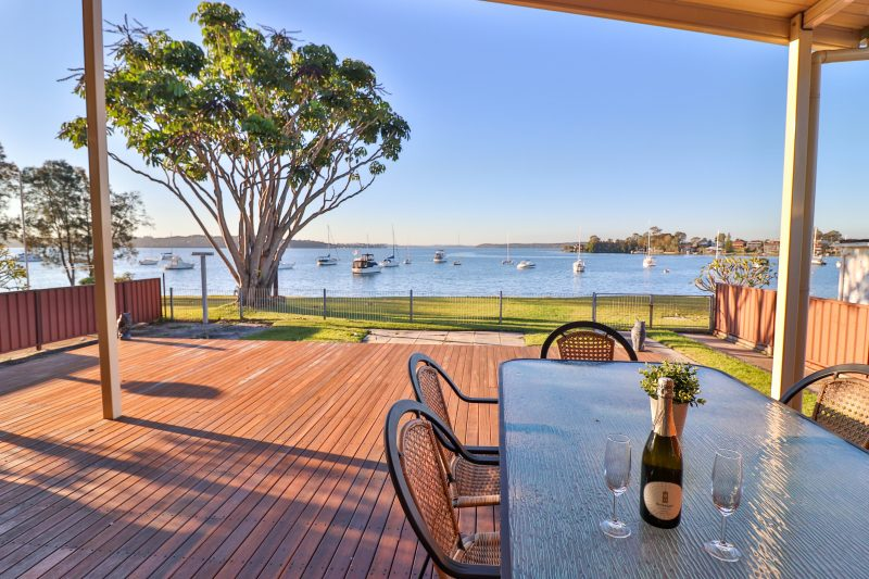Relax on the back deck and enjoy a BBQ with family