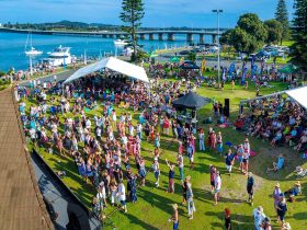 An awesome day of live music by the lake at Tuncurry