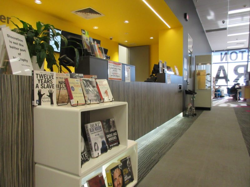 Front Desk at the Lavington Library