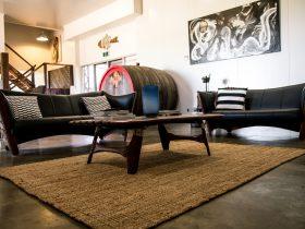 Lazy River Estate's Boat House living room
