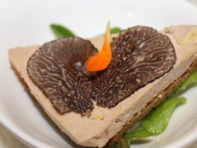 Le Tres Bon dish; foie gras, fresh truffle and home-made gingerbread