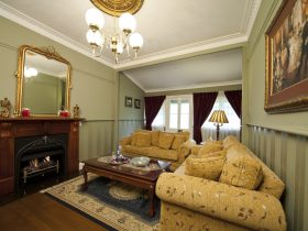 Relax in style in the third queen 4-poster bedroom complete with fine linen and plush surrounds