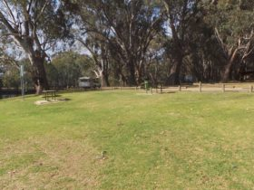 Picnic area at Lions Park Howlong