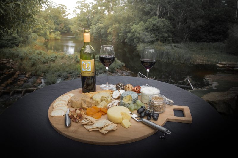 Cheese platter by the river