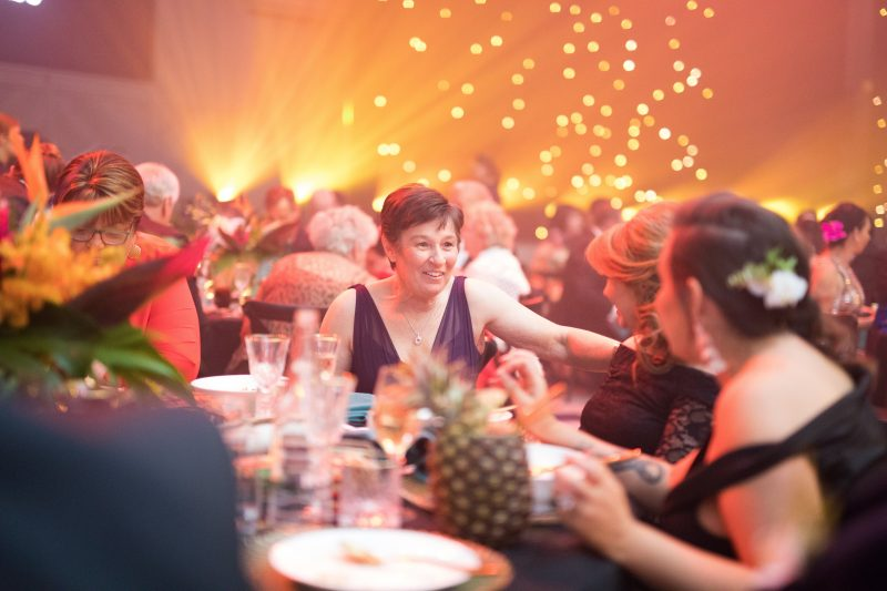 Image of guests in conversation at the 2018 Charity Ball.