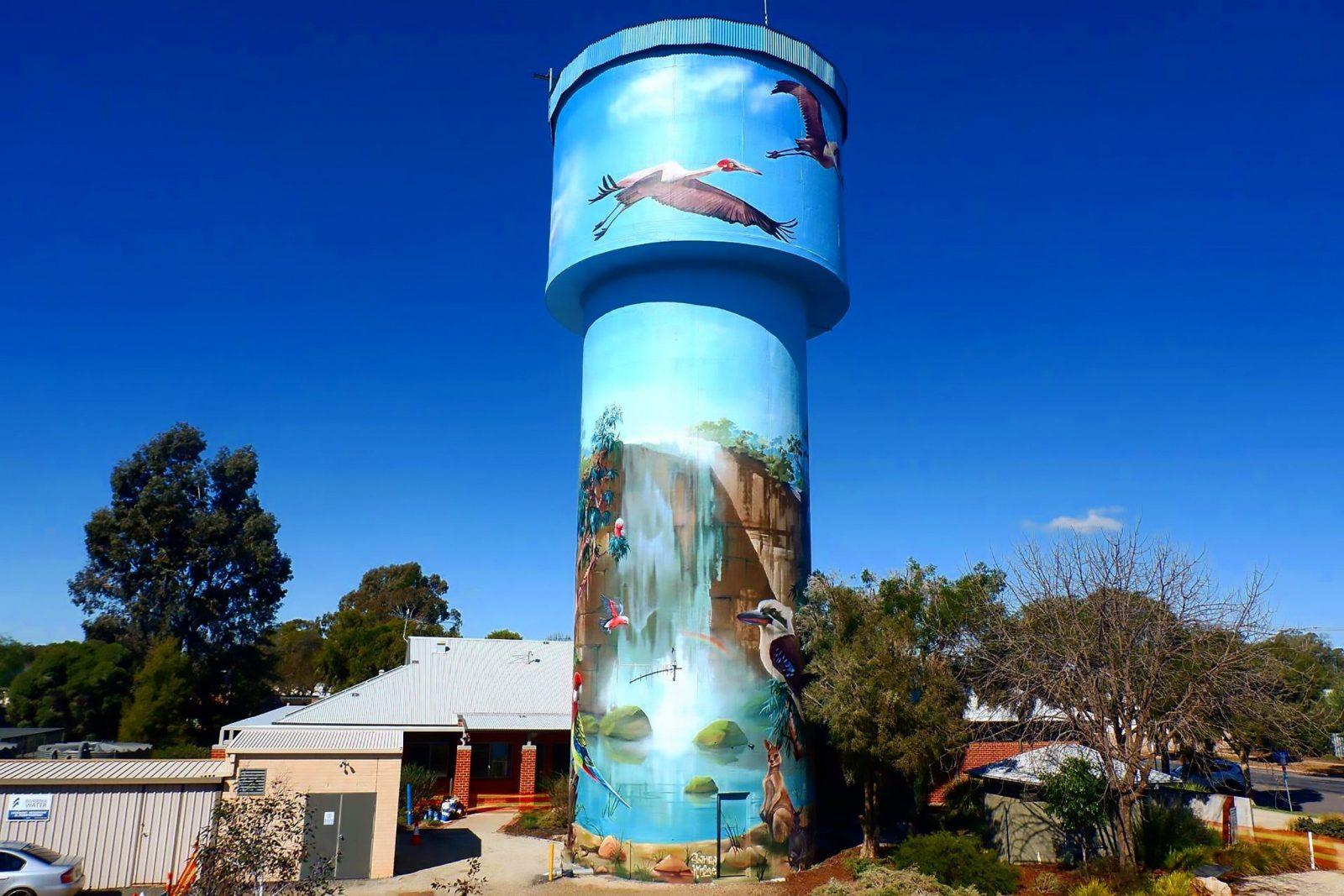 Lockhart Water Tower Mural