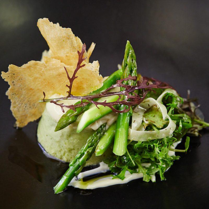 asparagus custard
