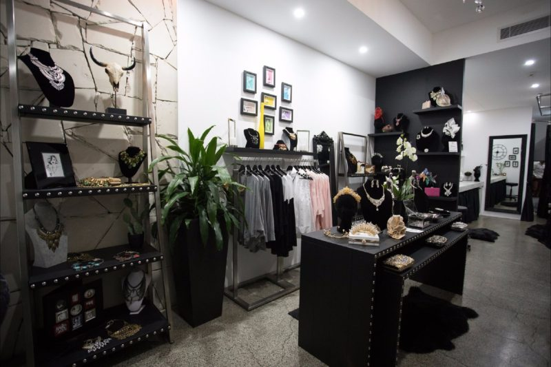 Image of the inside of Love Lee Boutique featuring Australian designer fashions and jewellery