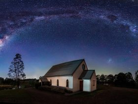 The beautiful Milky Way overlooking our little Chape
