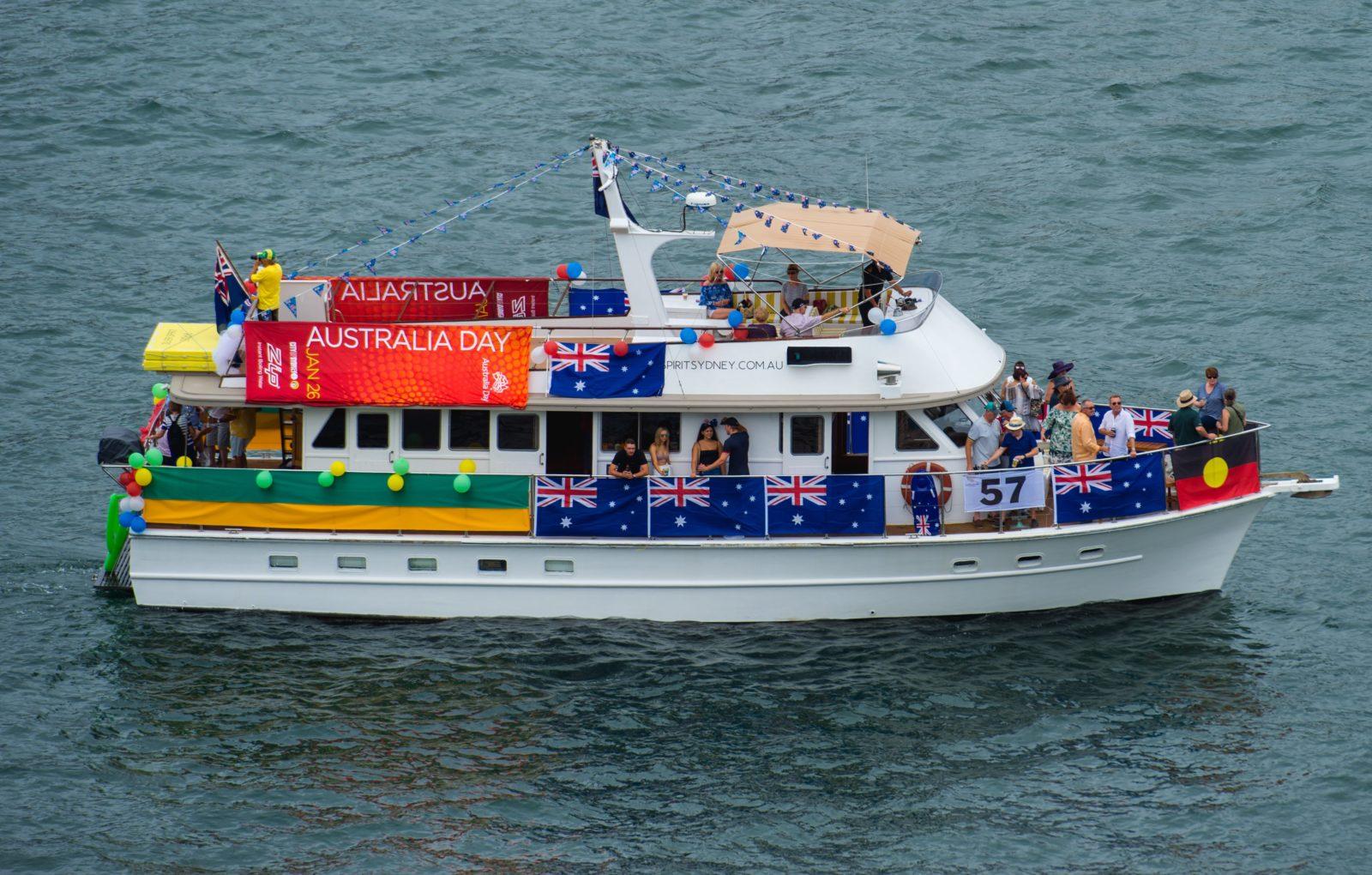 Silver Spirit's Australia Day Harbour Parade