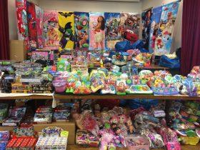 Variety of children toys