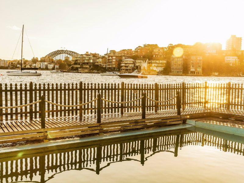 Sun rising over Maccallum Seawater Pool