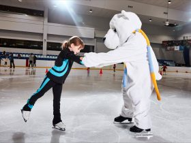 Come down to Macquarie Ice Rink and catch their beloved mascot Snowball! So much fun!