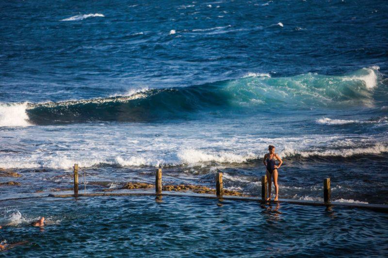 Swimmers enjoying Mahon Pool, Maroubra