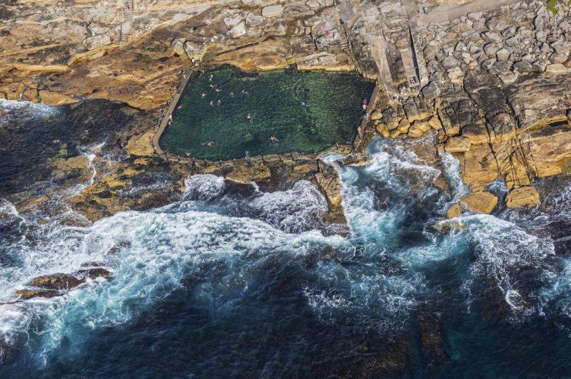 Aerial view of Mahon Pool, Maroubra