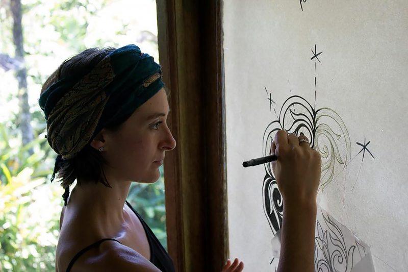 Mandala artist Stephanie June Ellis