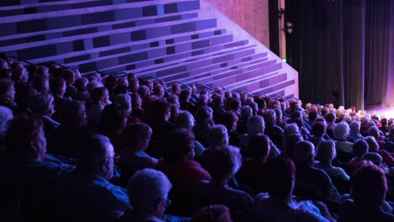 Casula Powerhouse theatre - audiences watching a show